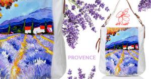 Borsa dipinta a mano - Provence