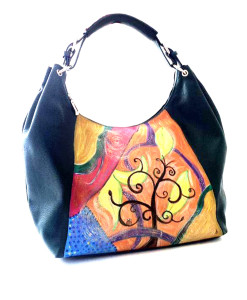 Hand painted bag - The tree of dreams
