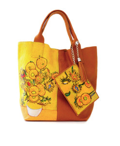Hand-painted bag - Sunflowers by Van Gogh
