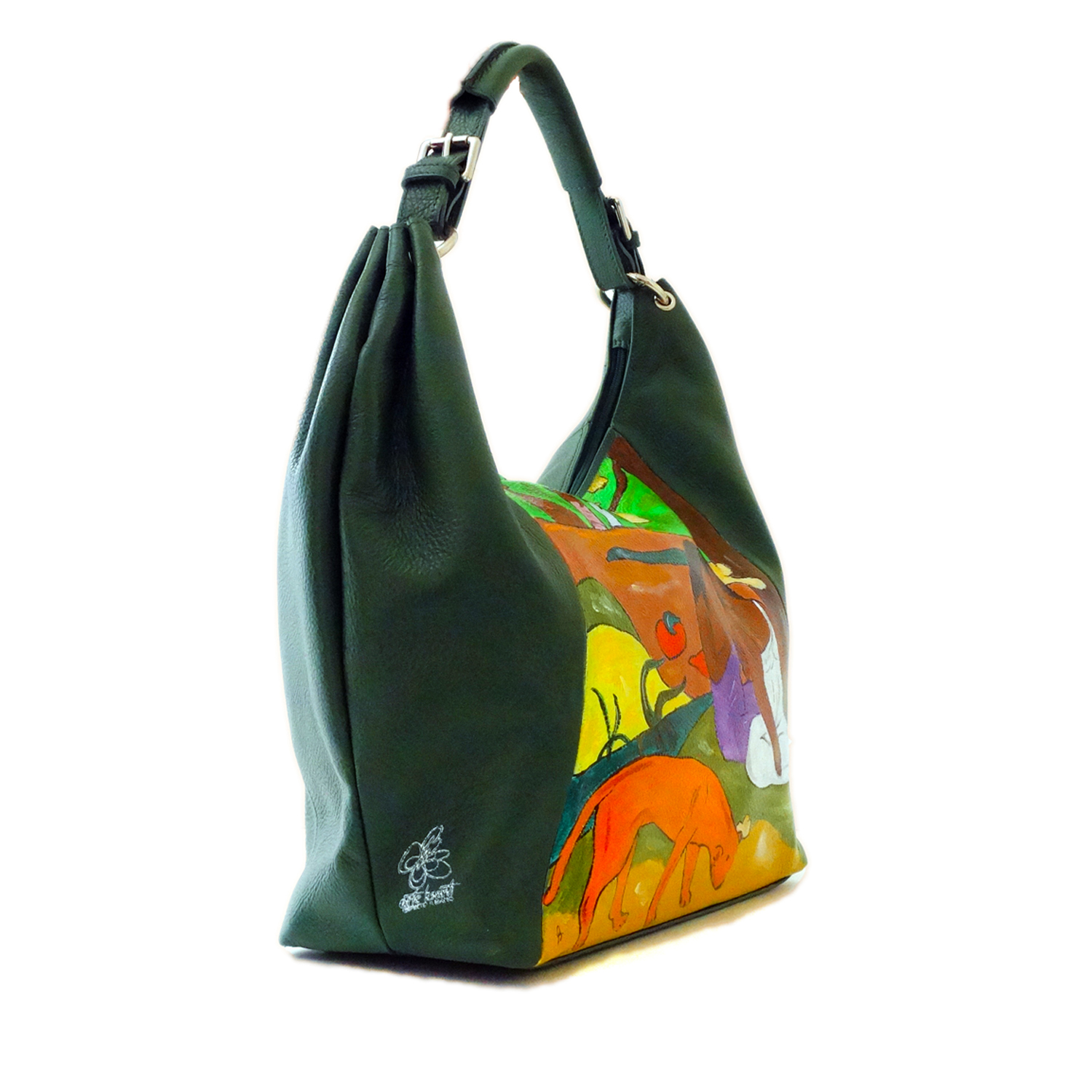 Hand-painted bag – Playfulness (Arearea) by Gauguin