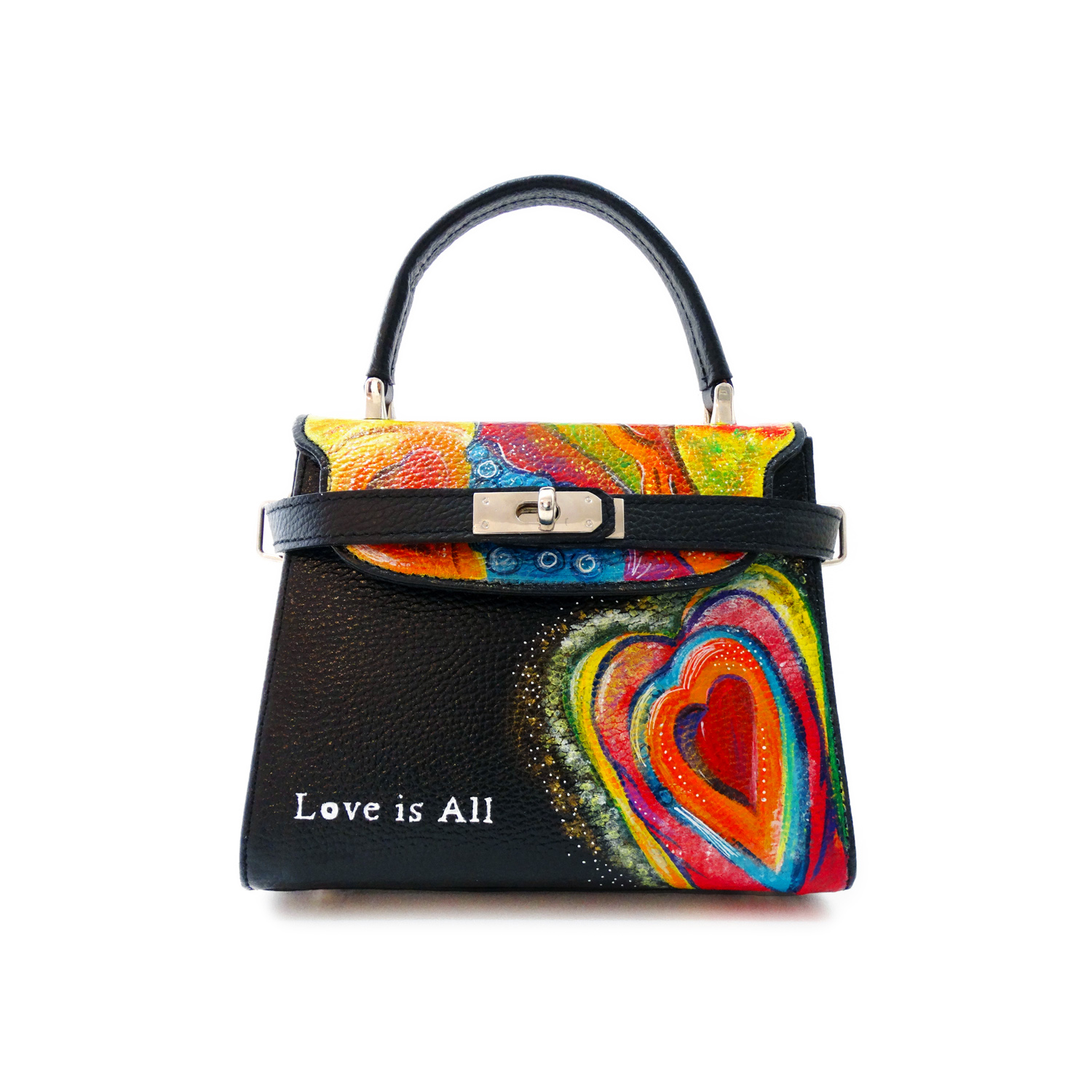Hand-painted bag - Love is All