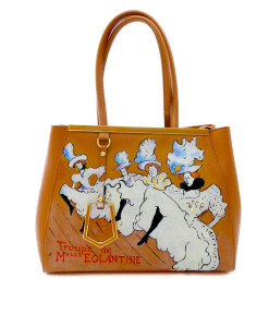 Hand painted bag - The troupe de Mlle Eglantine by Lautrec