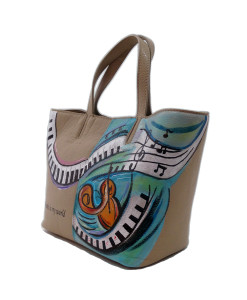 Hand-painted bag - Music is my world