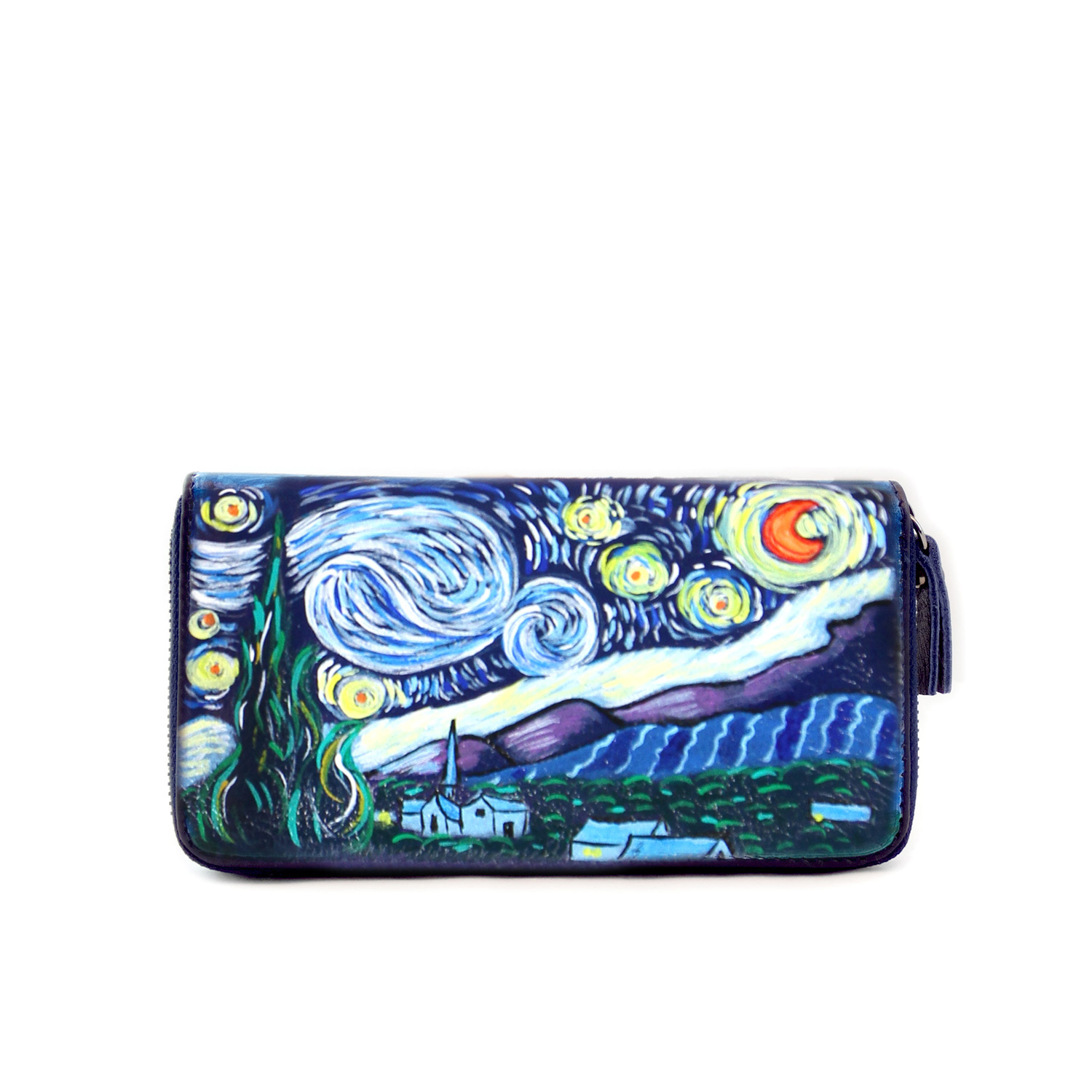 Hand-painted wallet - The Starry Night by Van Gogh