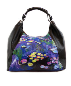 Hand-painted bag - Water lilies by Monet