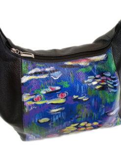 Borsa dipinta a mano – Ninfee al mattino di Monet