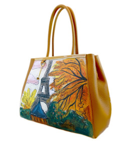 Hand-painted bag - Paris