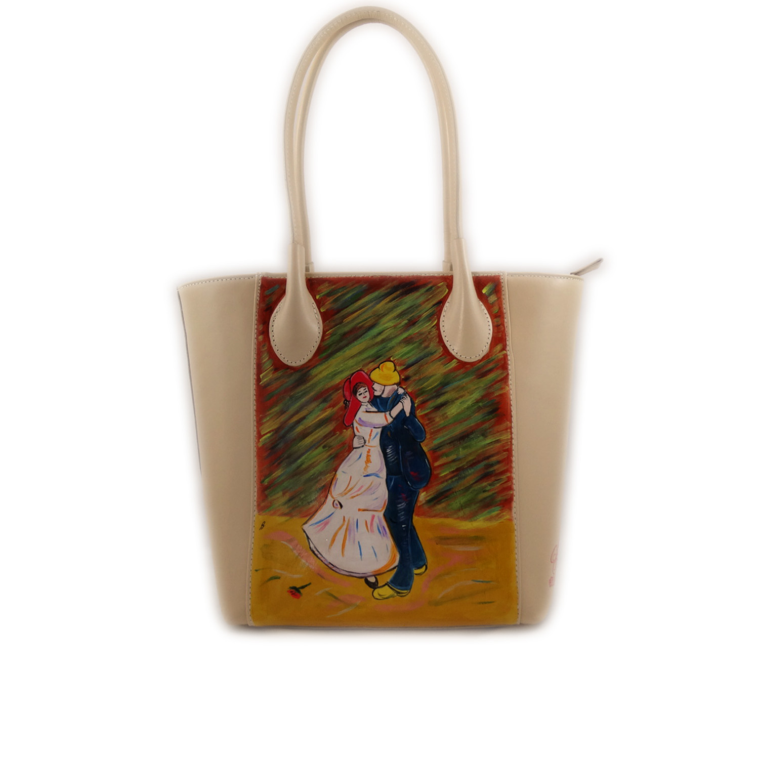 Hand-painted bag - Dance at Bougival by Renoir