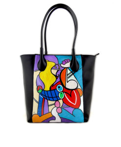 Hand-painted bag - Nude with still life by Picasso