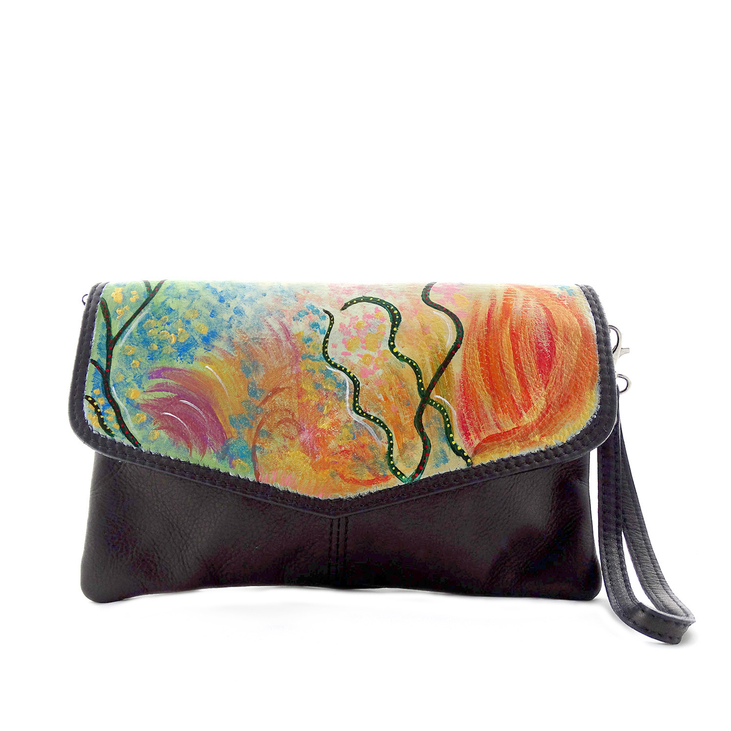 Hand-painted bag - Enchanted Garden