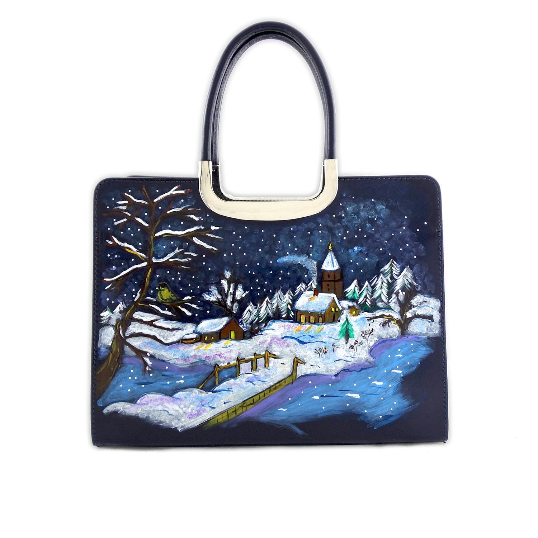 Hand-painted bag - Sweet Winter