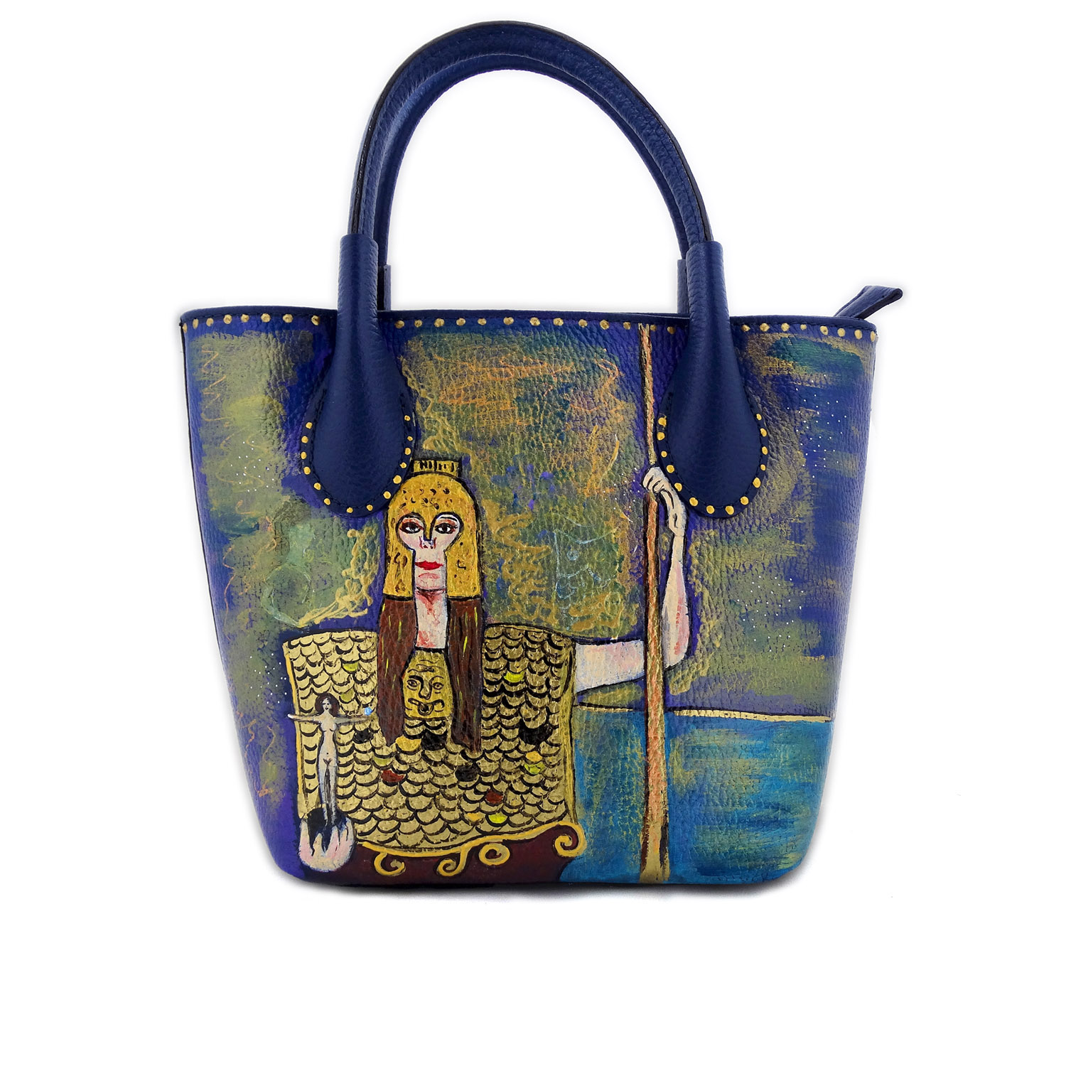 Hand painted bag - Pallas Athena by Klimt