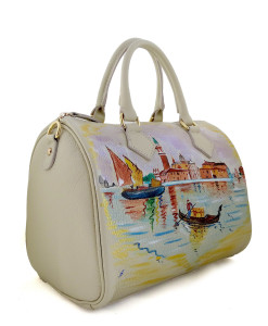 Hand-painted bag - Venice