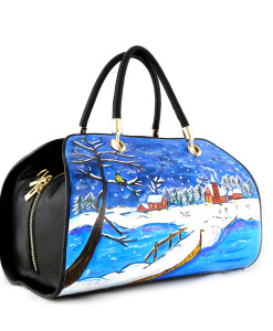 Hand-painted bag - Sweet winter