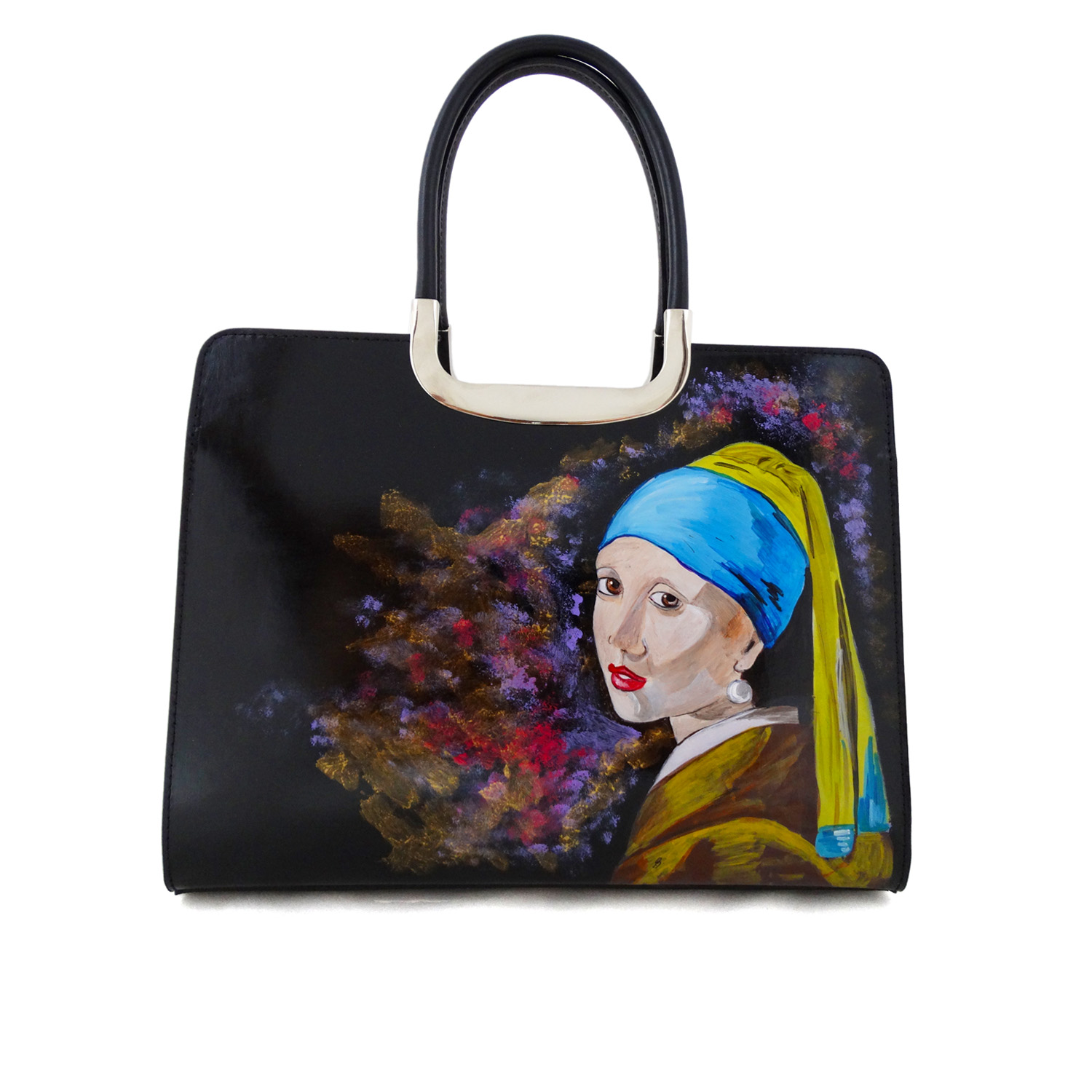 Hand painted bag - Girl with a Pearl Earring by Vermeer