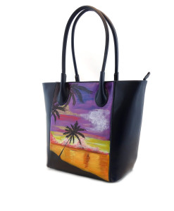 Hand-painted bag - Tahiti