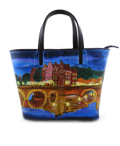 Hand-painted bag - Shining Amsterdam