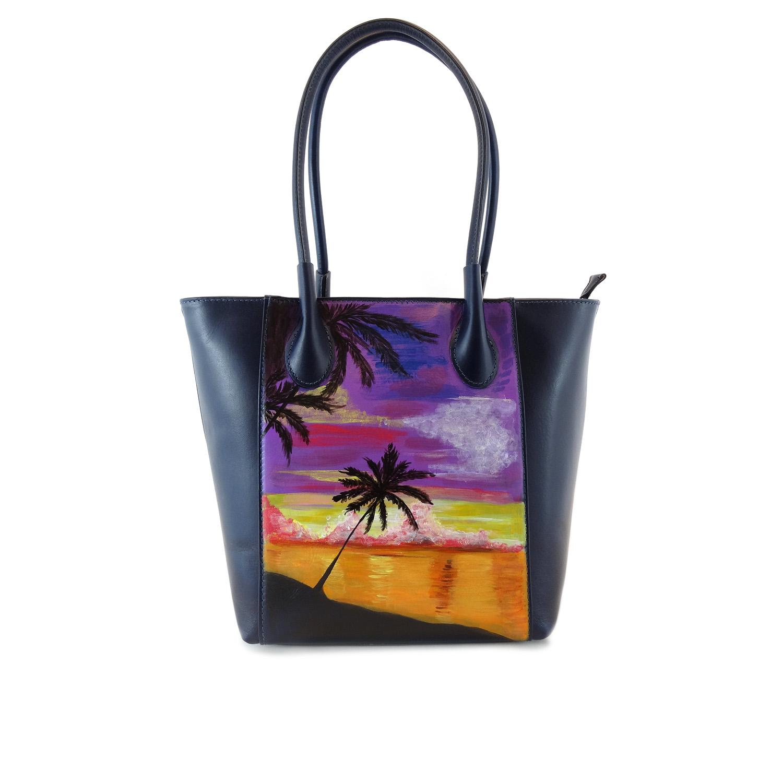 Hand-painted bag - Tahiti