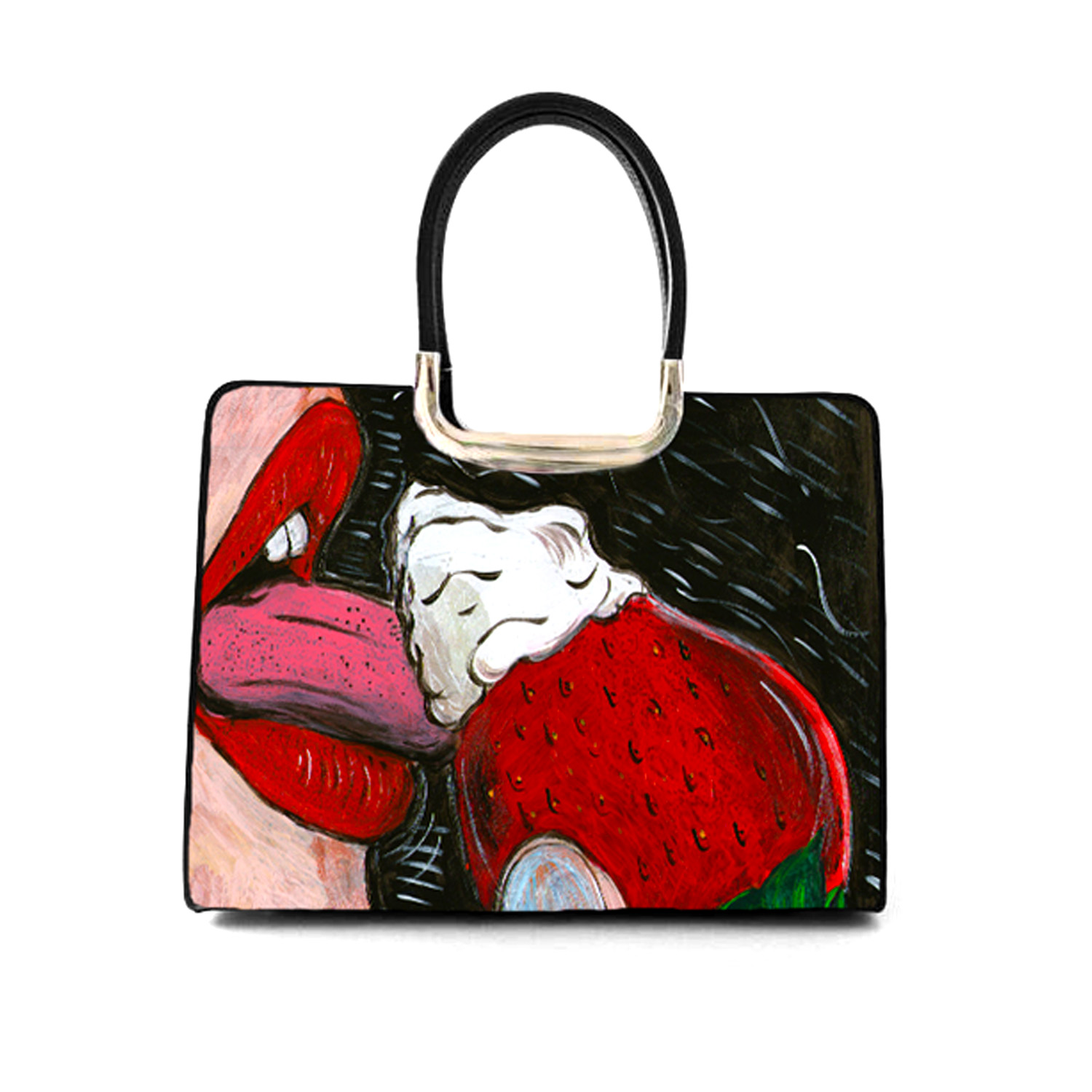 Hand-painted bag - Gluttony