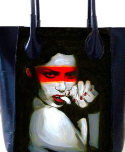 Hand-painted bag - Envy