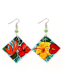 Hand painted earrings - Paradise