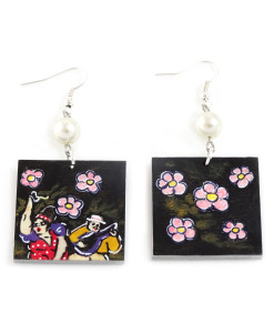 Hand-painted earrings - Tribute to the musicians by Botero