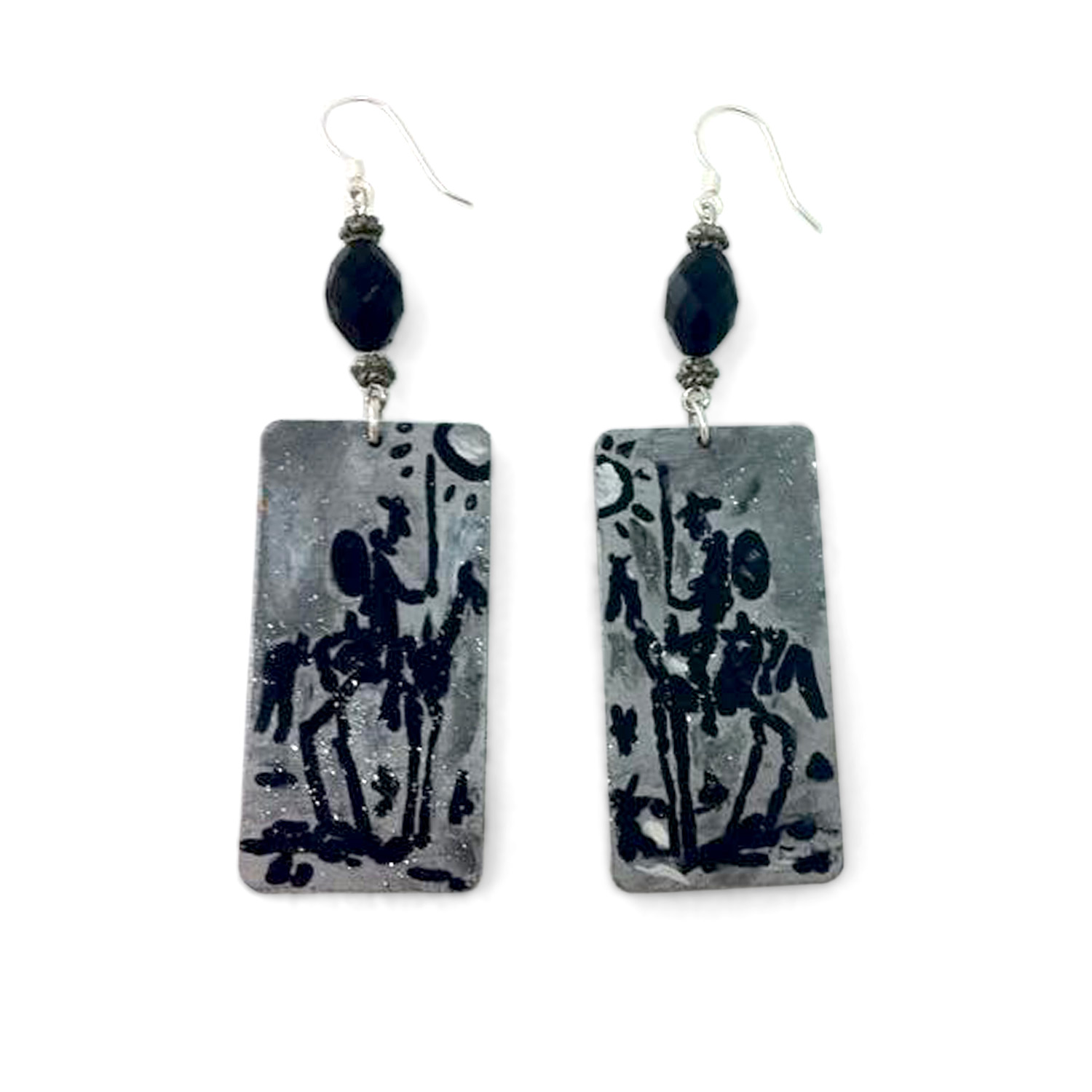 Hand-painted earrings - Don Quixote by Picasso
