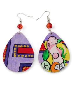 Orecchini dipinti a mano – La lettura di Picasso