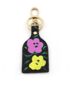 Hand painted keychain - Flowers by Warhol