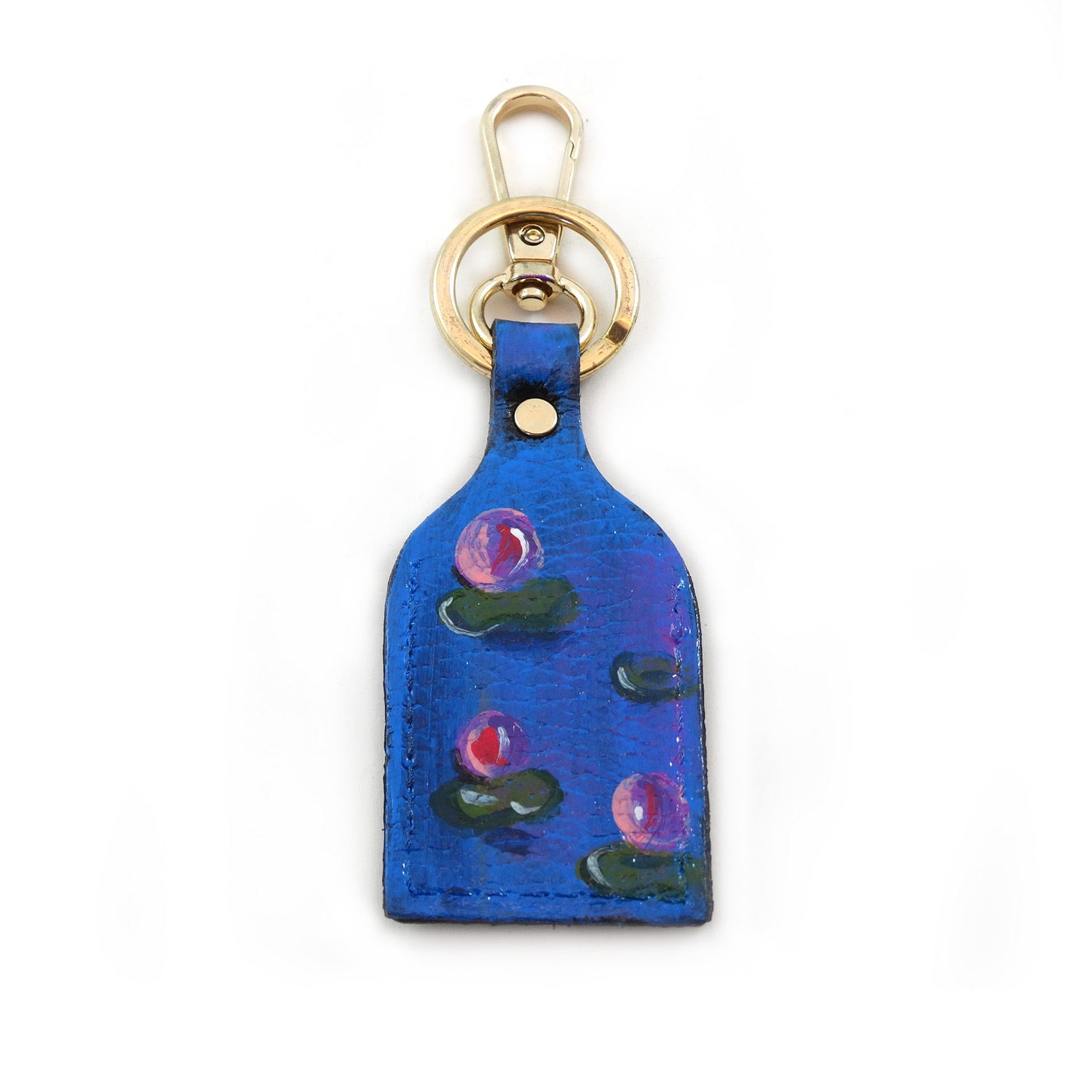 Hand painted keychain - Water lilies by Monet