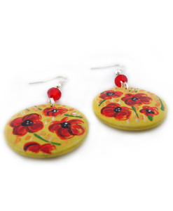 Hand painted earrings - Blossom flowers