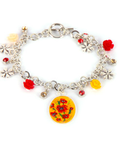 Hand-painted bangle - Blossom flowers