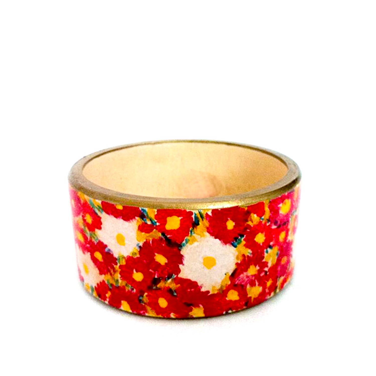 Hand-painted bangle - Field of flowers by Schiele