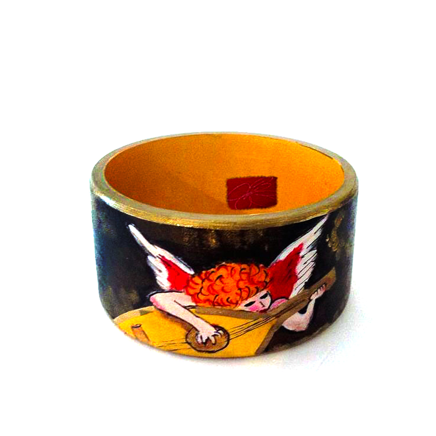 Hand-painted bangle - Musician Angie by Rosso Fiorentino
