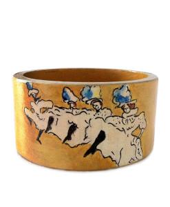 Hand-painted bracelet - La Troupe de Mlle Eglantine by Lautrec