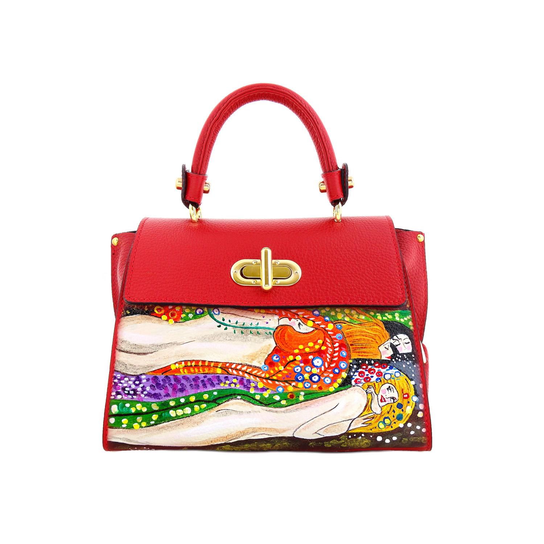 Handpainted bag - Water snakes by Klimt