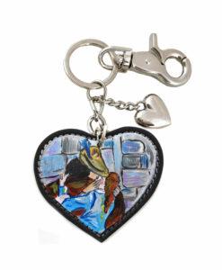 Portachiavi dipinto a mano – Il bacio di Hayez