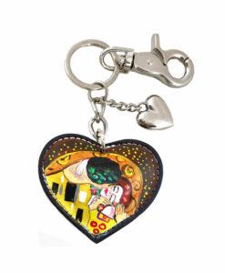 Portachiavi dipinto a mano – Il bacio di Klimt