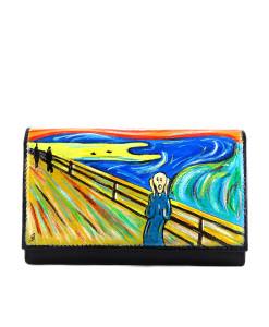 Portafoglio dipinto a mano – L'urlo di Munch
