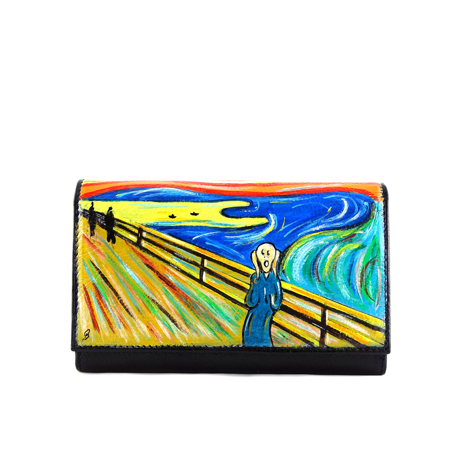 Hand painted wallet - The Scream by Munch