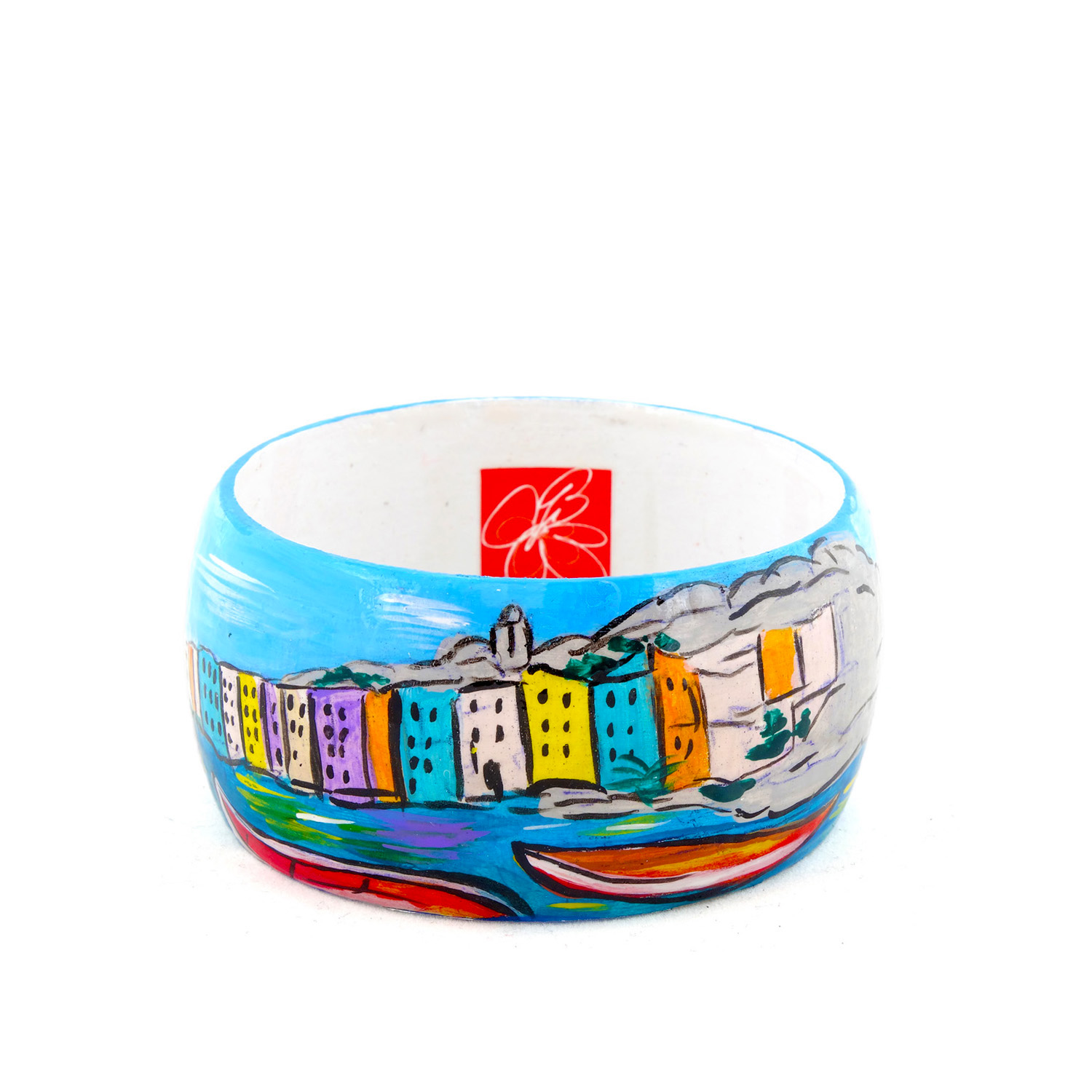 Hand-painted bangle - Portovenere