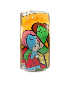 Hand-painted bangle - Two Girls Reading by Picasso