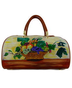 Hand painted bag - Basket of Fruit by Caravaggio