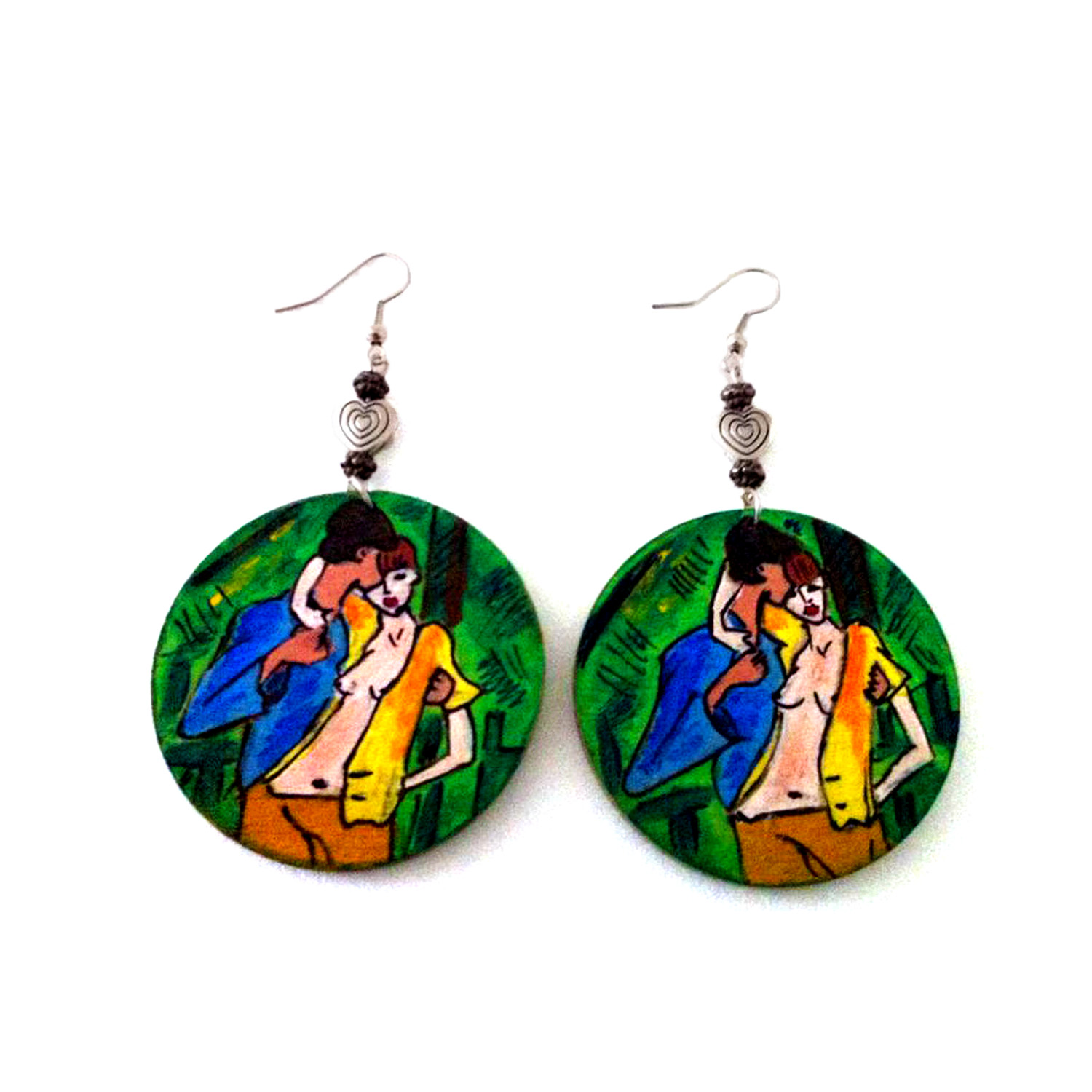 Hand-painted earrings - Gypsy Lovers by Mueller