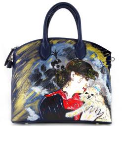 Borsa dipinta a mano – Ritratto di madame Rejane di Boldini