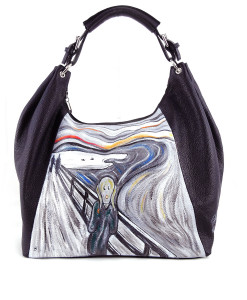 Hand painted bag - The Scream by Munch