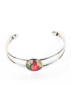 Hand-painted bangle - Rosebud