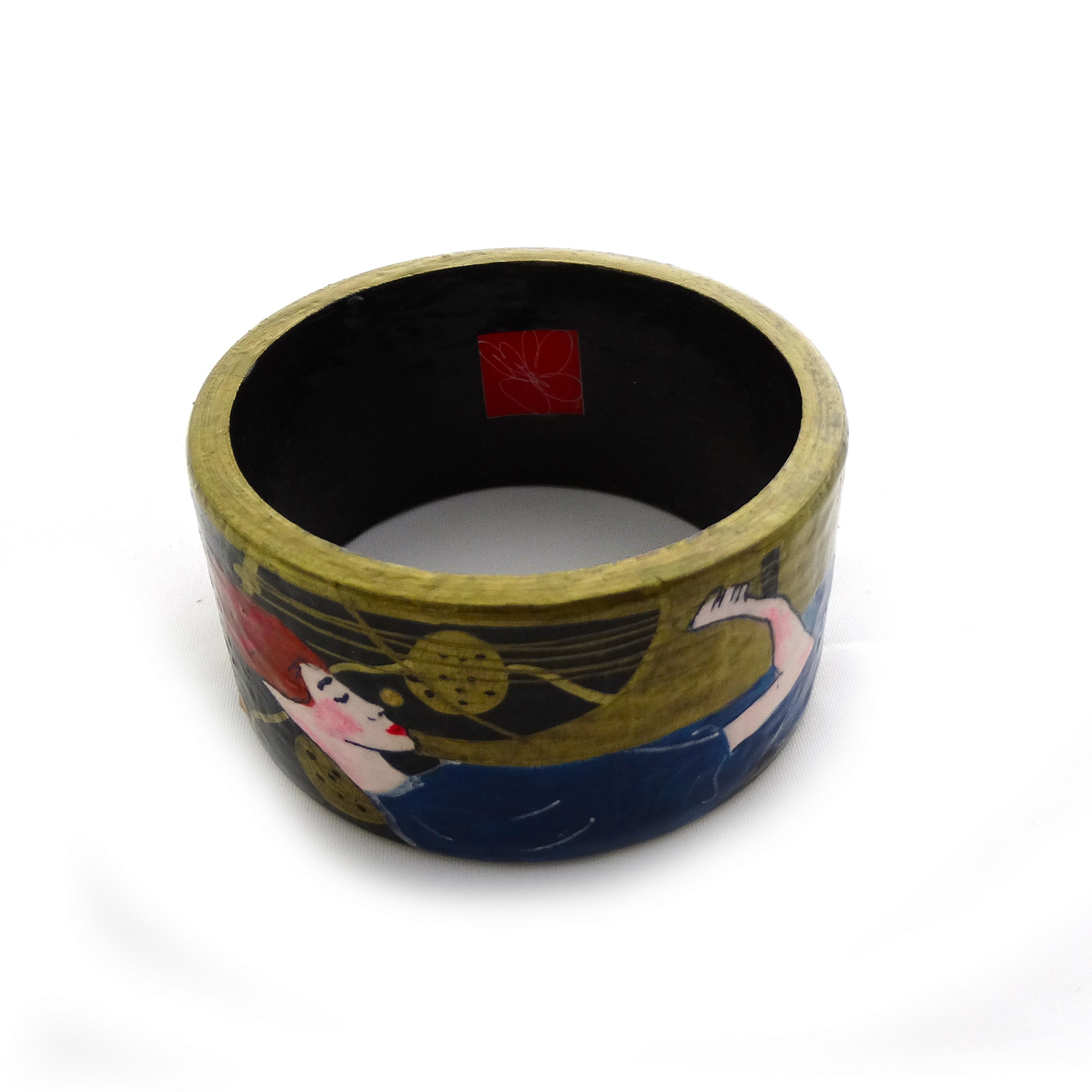 Hand-painted bangle - Music by Klimt