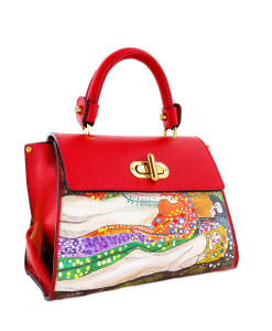 Handpainted bag - Water snakes by Klimt