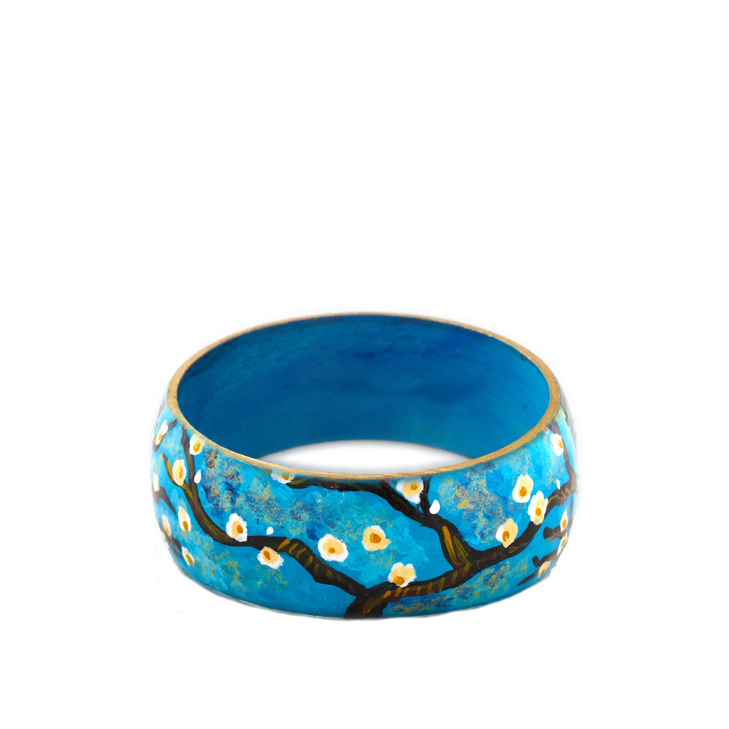 Hand-painted bracelet - The Almond tree by Van Gogh